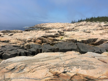 Basalt and granite at Schoodic