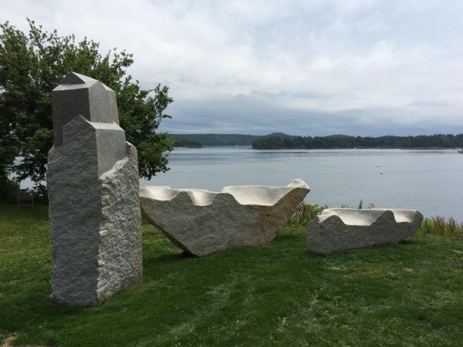 Castine granite sculpture