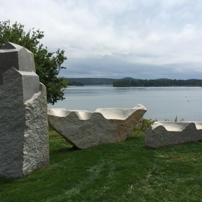 Castine granite sculpture
